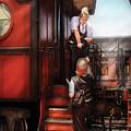 Train - Yard - Receiving A Telegram  by Mike Savad