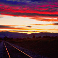 Train Track Sunset by James BO  Insogna