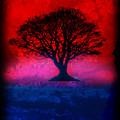 Tree Of Life - Red Sky by Robert R Splashy Art