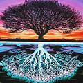 Tree Of Life And Negative by Brian Schuster