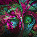Tree Of Life-pink And Blue by Tammy Wetzel