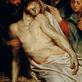 Triptych Of Christ On The Straw by Rubens