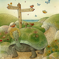 Turtle And Rabbit01 by Kestutis Kasparavicius