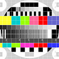 Tv Multicolor Signal Test Pattern by Aloysius Patrimonio