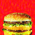 Two All Beef Patties by Wingsdomain Art and Photography