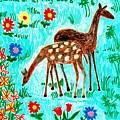 Two Deer by Sushila Burgess