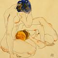 Two Friends by Egon Schiele