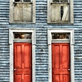Two Red Doors by Mel Steinhauer