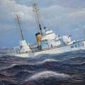 U. S. Coast Guard Cutter Sebago Takes A Roll by William H RaVell III