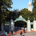 Uc Berkeley . Sproul Plaza . Sather Gate And Sather Tower Campanile . 7d10025 by Wingsdomain Art and Photography