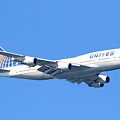 United Airlines Boeing 747 . 7d7850 by Wingsdomain Art and Photography