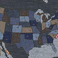 United States Of Denim by Michael Tompsett