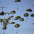 U.s. Army Paratroopers Jumping by Stocktrek Images