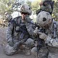 U.s. Army Soldier Radios In His Teams by Stocktrek Images