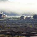 U.s. Bombs Burst During Fighting by Everett