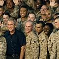 Us Soldiers Gather Around President by Everett