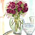 Valentines Crystal Rose by Clara Sue Beym