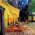Van Gogh Cafe Terrace Place Du Forum At Night by Vincent Van Gogh