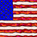 Van Gogh.s Starry American Flag Print by Wingsdomain Art and Photography
