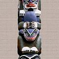 Vancouver Totem - 2 by Linda  Parker