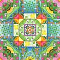 Vegetable Patchwork by Isobel  Brook Haslam
