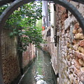 Venice Canal Through Gate by Italian Art