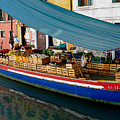 Venice Fresh Market Boat by Italian Art