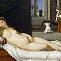 Venus Of Urbino Before 1538 by Tiziano Vecellio
