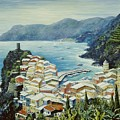 Vernazza Cinque Terre Italy by Marilyn Dunlap