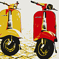 Vespa Scooter Pop Art by Michael Tompsett