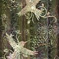 Victorian Hummingbird Green by JQ Licensing