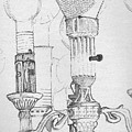 Victorian Lamp Drawing by Ron Hayes
