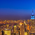 View From The Top - Nyc Skyline by Mark E Tisdale