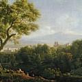 View Of Frascati by Jean Bidauld