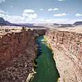 View Of Marble Canyon From The Navajo Bridge by Ryan Kelly