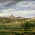 View Of Paris From Butte Aux Cailles by Jean Baptiste Gabriel Langlace