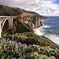 View Of The Bixby Creek Bridge Big Sur California by George Oze
