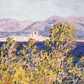 View Of The Cap Dantibes With The Mistral Blowing by Claude Monet