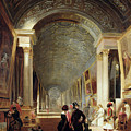 View Of The Grande Galerie Of The Louvre by Patrick Allan Fraser