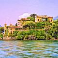Villa On Lake Como by Dominic Piperata