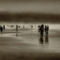Vintage Beach Walk by David Patterson