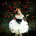 Vintage Dancer Series Raining Rose Petals  by Cindy Singleton
