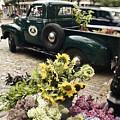 Vintage Flower Truck-nantucket by Tammy Wetzel