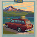 Vintage Squareback At Trillium Lake by Mitch Frey