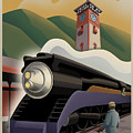 Vintage Union Station Train Poster by Mitch Frey