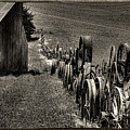 Vintage Wheel Fence by David Patterson