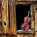 Violin In Window by Garry Gay