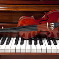 Violin On Piano by Garry Gay