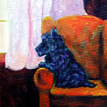 Waiting For Mom - Scottish Terrier by Lyn Cook