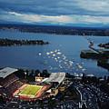 Washington Aerial View Of Husky Stadium by Jay Drowns